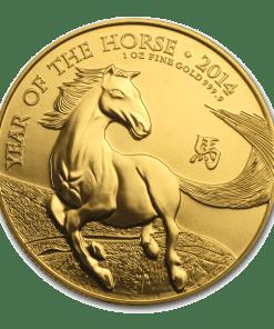 Gold Lunar Horse