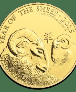 Gold Lunar Sheep