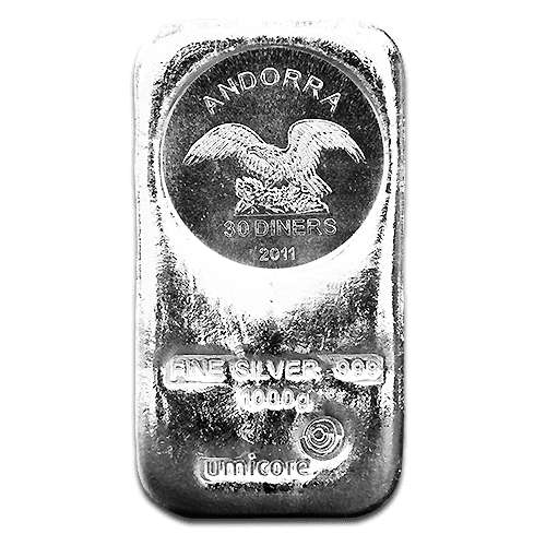 As an alternative, why not consider our 1 kilo silver bar from Umicore