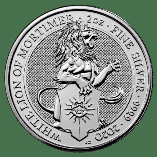 Silver queens beast white lion