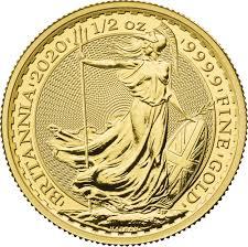 2020 Britannia Half Ounce Gold Coin