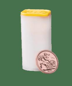 2021 gold sovereign tube