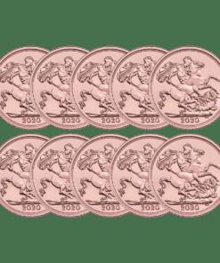 2020 Gold Sovereign 10 coin bundle