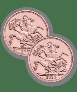 2020 Gold Sovereign 2 coin bundle