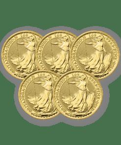2020 Gold Britannia 5 coin bundle