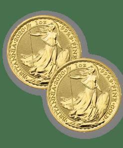 2020 Gold Britannia 2 coin bundle
