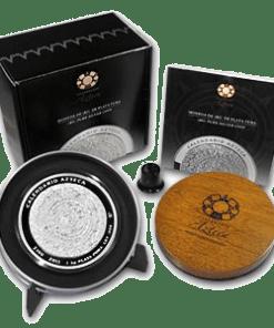 Aztec Calendar silver coin
