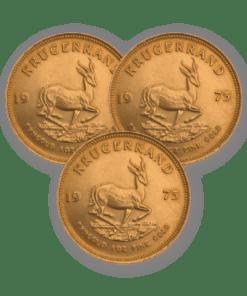 Best Value Gold Krugerrand 3 coin bundle