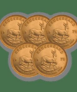 Best Value Gold Krugerrand 5 coin bundle