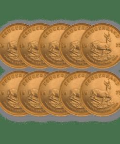 Best Value Gold Krugerrand 10 coin bundle