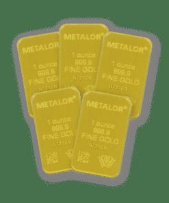 1oz Gold 5 Bar Bundle