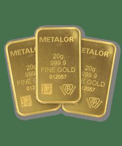 20g gold 3 bar bundle