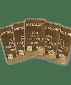 50g Gold 5 Bar bundle