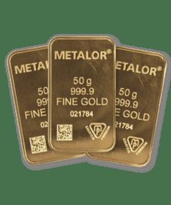50g Gold 3 Bar bundle
