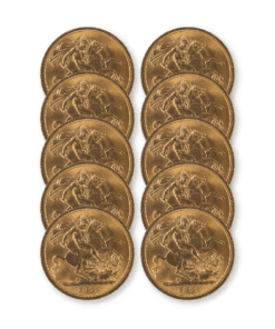 Pre-owned Full Sovereign 10 coin bundle