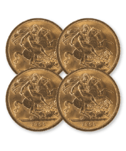 Pre-owned Full Sovereign 4 coin bundle