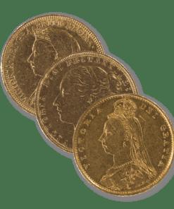 Victoria 3 Portrait Sovereign coin bundle