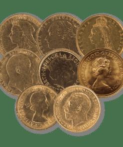 8 Portrait Sovereign coin bundle