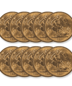Pre-owned Half Sovereign 10 coin bundle