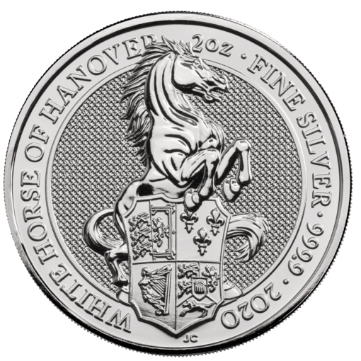 Silver queens beast white horse