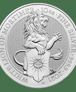 10oz Silver White Lion